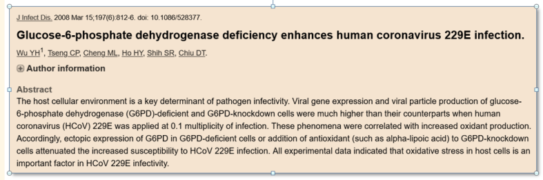 G6 PD def enhances CoV infection 2008
