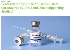 Higher Cov Risk after Flu vacc