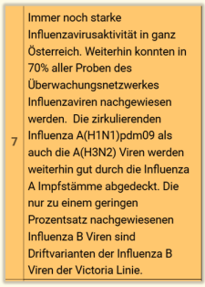 influenza KW 7 2020 Austria