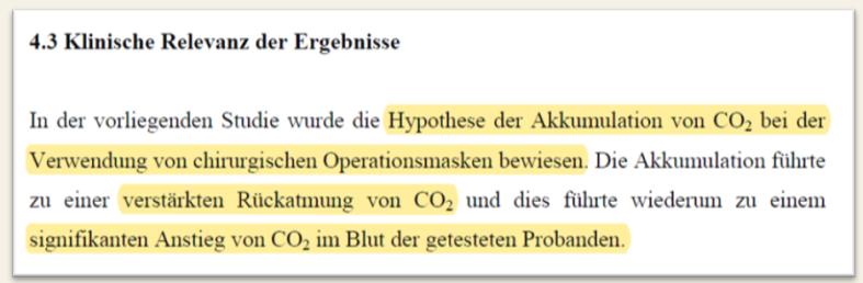 Masken CO2 Rückatmung TU Muc