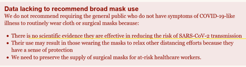 CIDRAP no evidence mask protection SARS-CoV-2